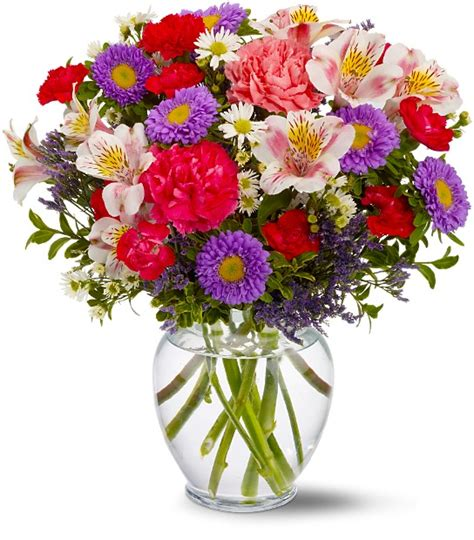 Flowers With Vase Delivery by Birthday Flower Arrangements Mini Vase Flower