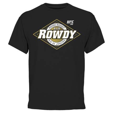 Tshirt Rowdy Rousey ronda rousey ufc 190 rowdy shirt fighterxfashion