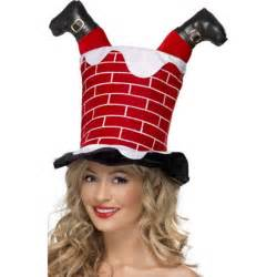 new santa down the chimney christmas novelty fun hat
