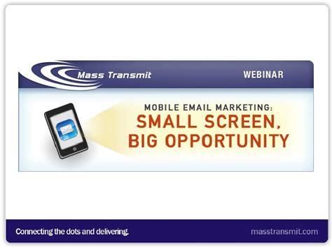 mobile email marketing mobile email marketing small screen big opportunity