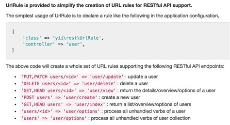 restful api documentation template programming with yii2 building a restful api