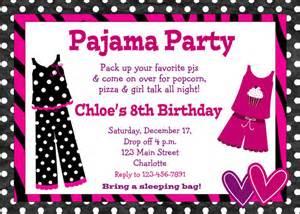 pyjama party danniversaire invitation soir 233 e par