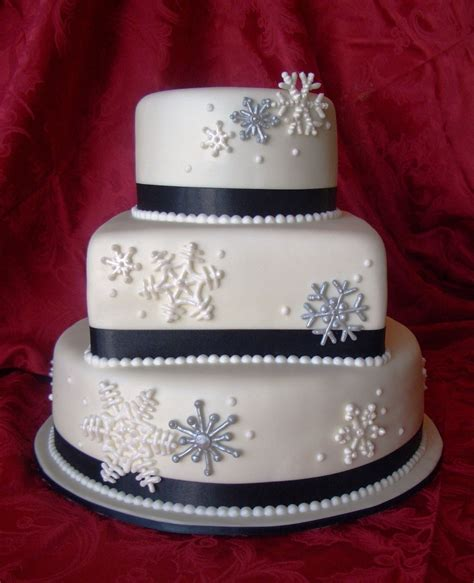 Snowflake Wedding Cake   Cake Decorating Community   Cakes