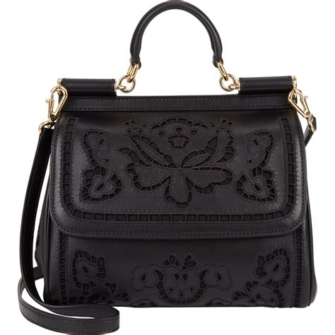 Dg Dolce And Gabbana Floral Canvas Satchel by Dolce Gabbana Floral Cutout Medium Miss Sicily Bag At