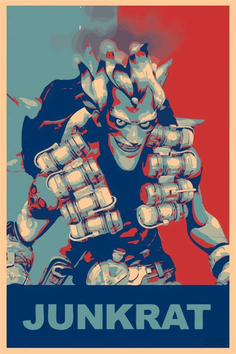 Poster Overwatch 08 propaganda junkrat overwatch overwatch gamer hd wallpapers desktop and mobile images photos