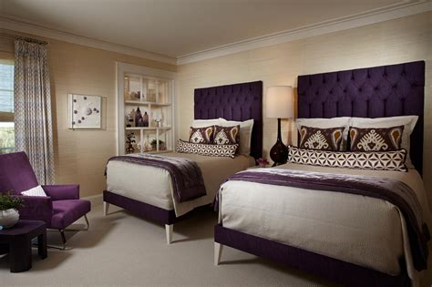 purple bed room beige and purple bedroom photos and video