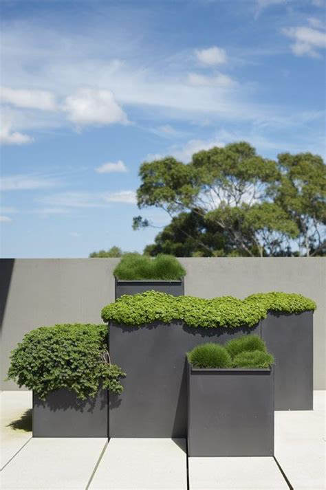 modern outdoor planter 37 modern planters to make your outdoors stylish digsdigs