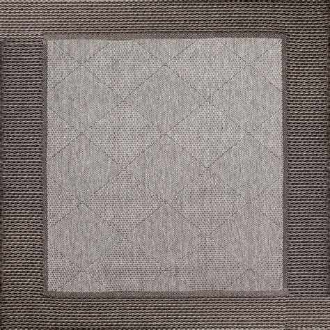 rugs 9x9 9x9 grey area rug charcoal border and cabled yarn indoor outdoor rugs