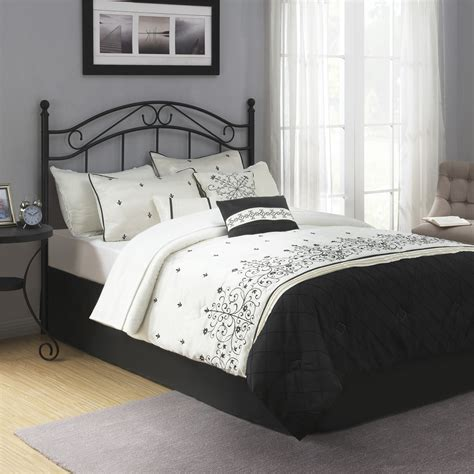 queen headboard on full bed mainstays full queen metal headboard
