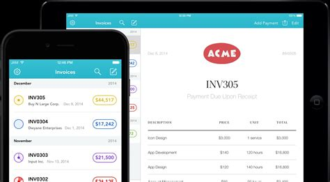 invoice app for iphone invoice template ideas