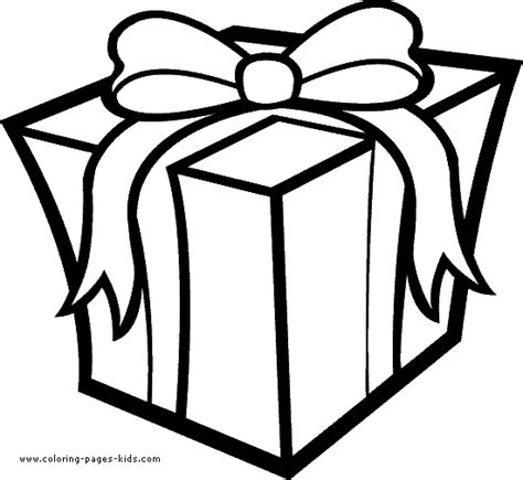 birthday present coloring pages coloring pages