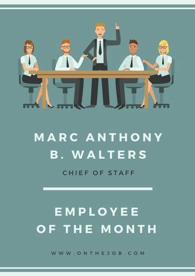 employee of the month poster template gse bookbinder co