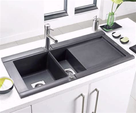 black composite kitchen sink modern design family room new