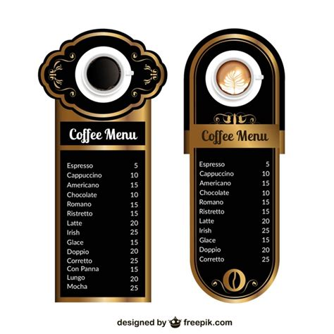 coffee menu template free coffee menu templates vector free