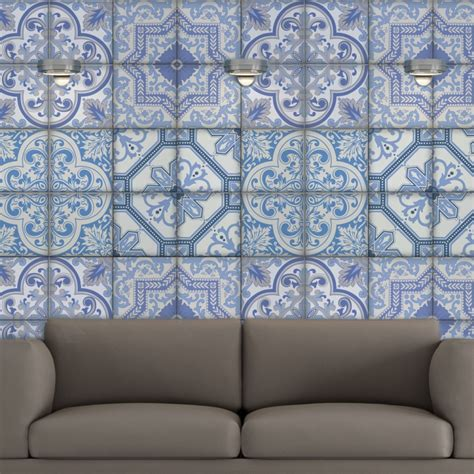 moroccan tiles stickers pack of 16 tiles tile decals moroccan bule tiles stickers ameur pack of 16 tiles