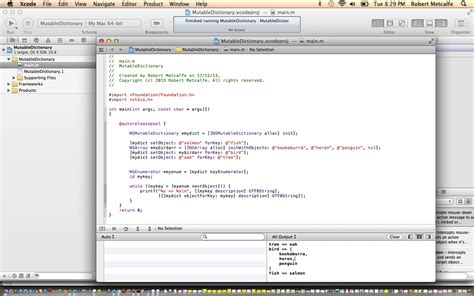 tutorial c xcode xcode objective c mutable dictionary primer tutorial