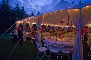 Outdoor Tent Lighting Ken S A Simple Wedding Dress Is Based On The Fabric And Cut To A Statement Instead