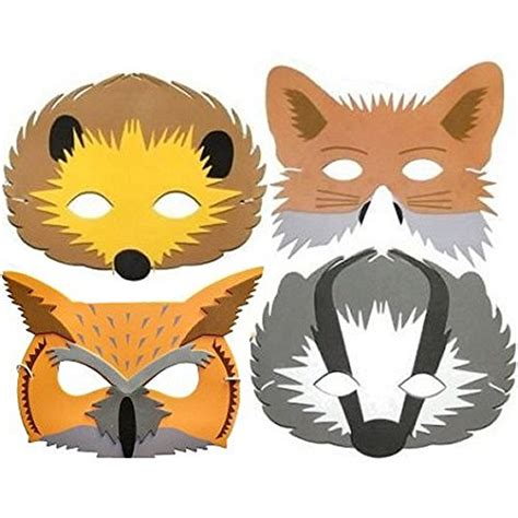 woodland animal masks template great woodland creature masks to print out and decorate or