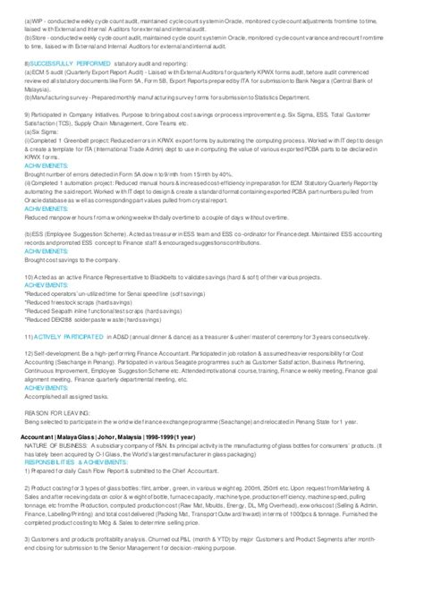 Resume Accountant Achievements 100 Deputy Chief Accountant Resume Econ3101