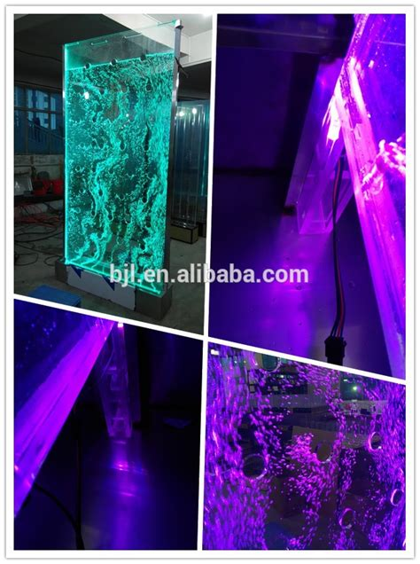 led acrylic water bubble wall screen furniture restaurant