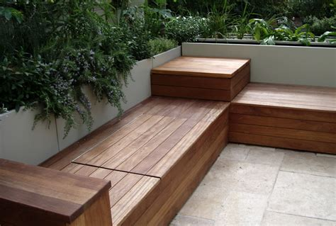 storage seating benches outdoor wooden garden benches