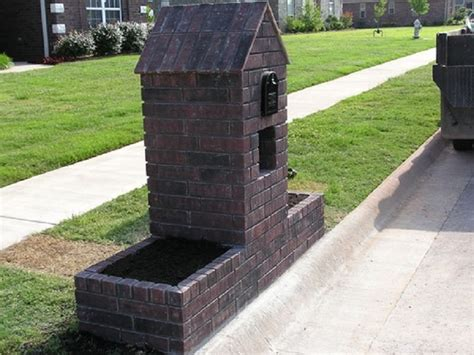 brick l post designs custom brick mailbox designs with planters mailbox design