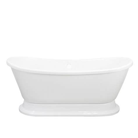 bathtub in french acrylic french bateau pedestal tub the loo store