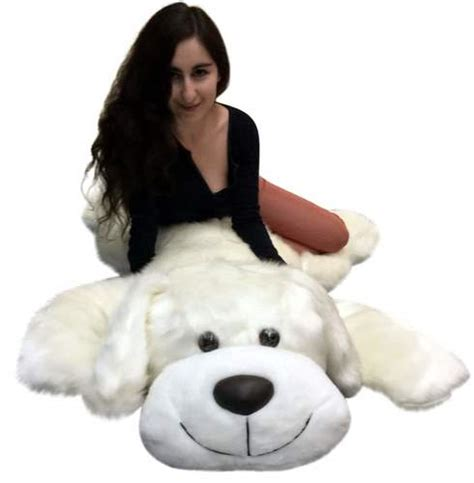 pet names for soft teddy american made stuffed 5 foot 60 inch soft large plush puppy white color big plush