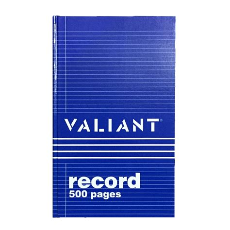 record book valiant record book 500 pages jb merchandising philippines