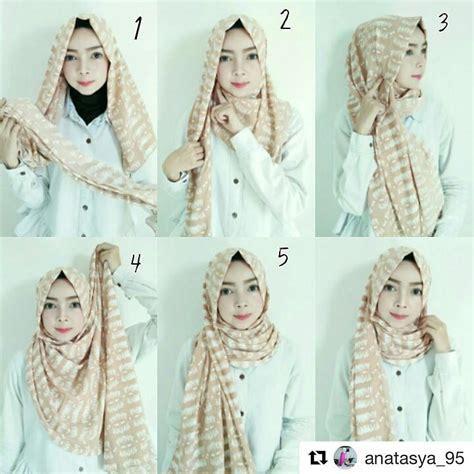 tutorial gaya hijab anak remaja cara berhijab pashmina simple modern cantik fashion
