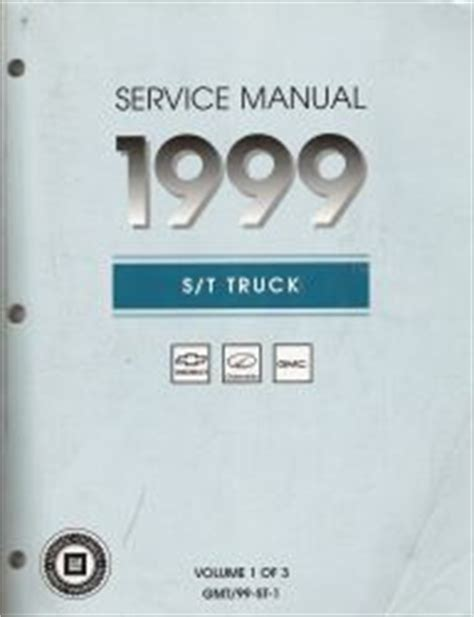 vehicle repair manual 1999 gmc envoy electronic toll 1999 chevrolet s10 blazer gmc sonoma jimmy envoy