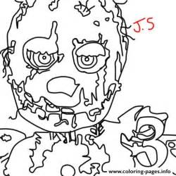 fnaf coloring pages freddy five nights at freddys fnaf golden freddy coloring pages
