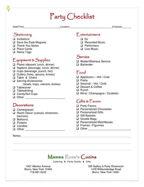 birthday party planning checklist living room bedroom bathroom