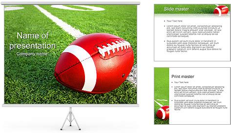 American Football Powerpoint Template Backgrounds Id 0000002369 Smiletemplates Com Powerpoint Football Template