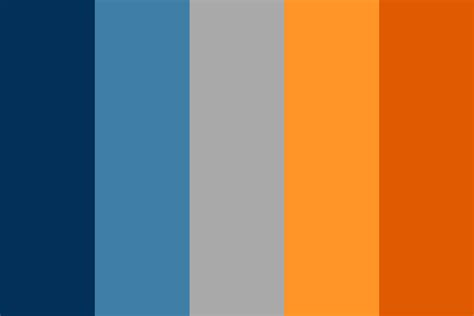 orange and blue color scheme blue meets orange color palette