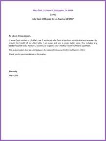 sample letter of authorization crna cover letter