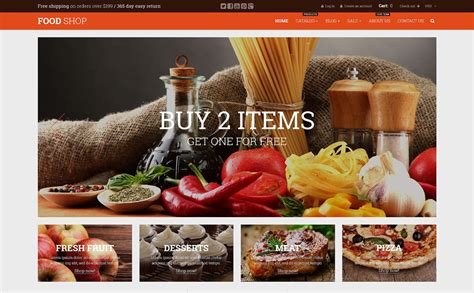 shopify themes food food and beverages shopify theme