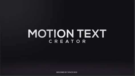 motion text creator after effects template videohive