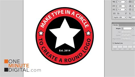 type in make type in a circle to create a logo in