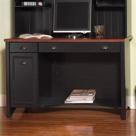 bush stanford collection computer desk antique black and cherry bush stanford 48 quot home office desk set in antique black