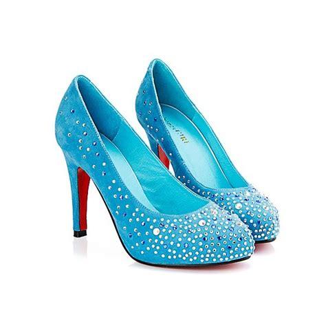 high heels diamonds blue high heels shoes