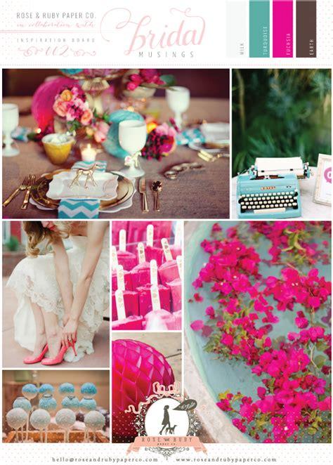 Turquoise And Pink Wedding Decorations by Turquoise And Fushia Wedding Inspiration