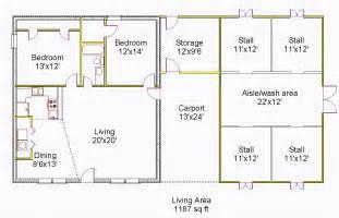 House Barn Combo Floor Plans Gallery