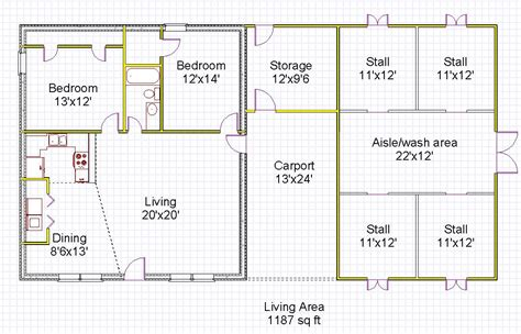 House Barn Combo Floor Plans | house barn combination energy efficient icf insulated