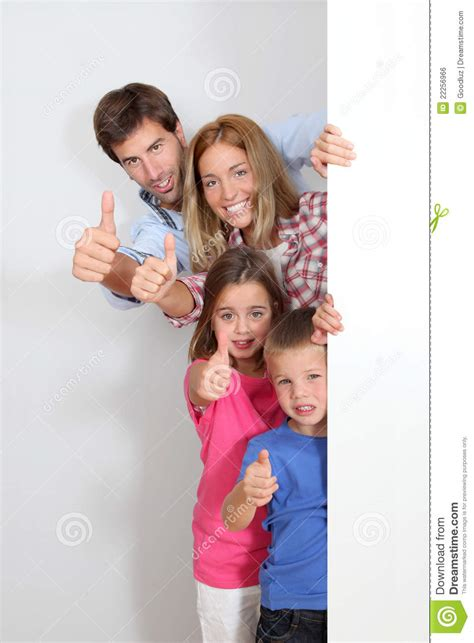 Family It Up by Family Showing Thumbs Up Royalty Free Stock Image Image