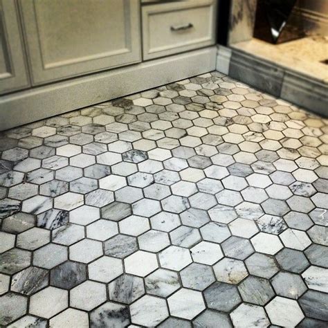 carrara marble hexagon bathroom floor bathroom