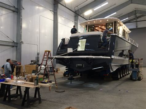 boat paint booth the new sabre 66 headed to the paint booth updated the
