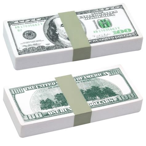 Customized Squeezies (R) $100 bill stack stress reliever ... $100 Bill Stack