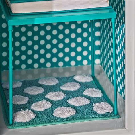 locker rug teal dottie locker rug pbteen