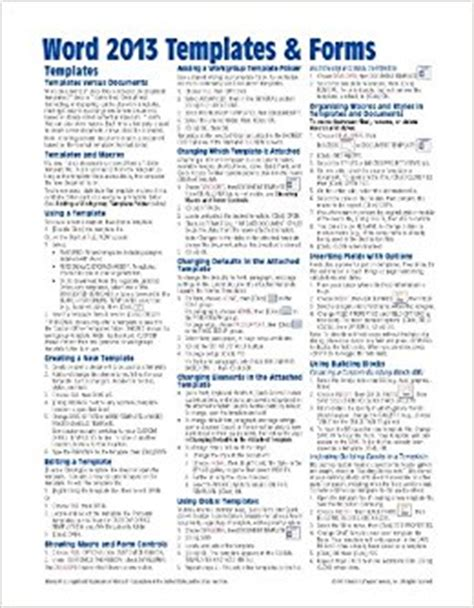 reference guide template word microsoft word 2013 templates forms reference